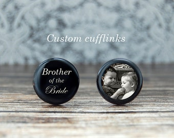 ... gift for brother , brother wedding gift , custom cufflinks , brother