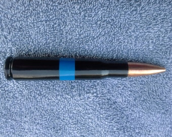 Thin Blue Line 50 caliber Bullet pen ......Free Shipping