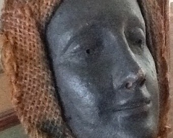 Terracotta woman's head