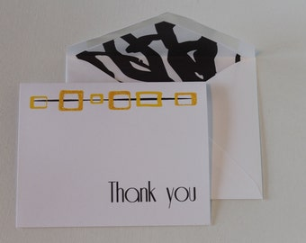 "Modular square ""Thank You"" A2 cards (set of 8)"