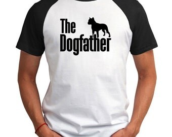 The dogfather American Staffordshire Terrier Raglan T-Shirt