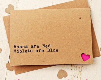 Personalised Cards - Valentines Day Card - Anniversary Card - Handmade Cards - Funny Love Card - Boyfriend Card - Girlfriend Card