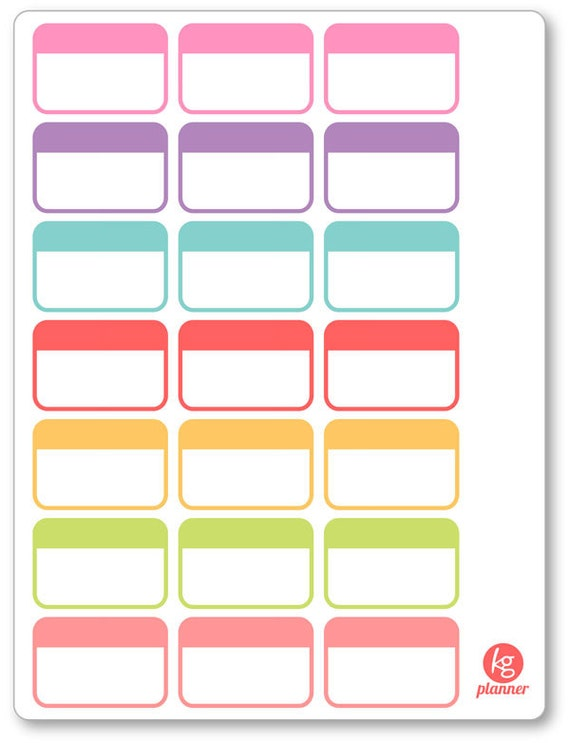 Label half box planner stickers for erin condren planner for Half page sticker labels