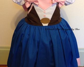 Sheriff Callie inspired dress, costume, sheriff dress, western birthday party, toddler western dress, cowgirl dress,