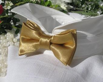 Antique Gold Dog Bow Tie Collar~Dog Ring Bearer~Dog Wedding Attire~Pet Wedding~Dog Formal Collar~Dog Tuxedo Collar~Dog Wedding Bow Tie~Gold~