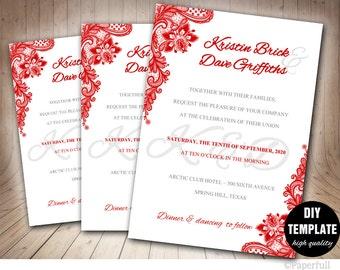 Lace Wedding Invitations Etsy