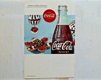 1960s - Coca Cola Advertisement  - Vintage Coke - Antique Advertisement - Old Magazine Ad - Advertisement Print - Coke Sign & Memorabilia