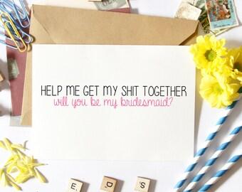 Funny Bridesmaid Proposal, Funny Bridesmaid Card, Will You Be My, Bridesmaid Asking