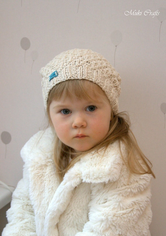 KNITTING PATTERN beanie hat Eti (baby, toddler, child, adult woman sizes)