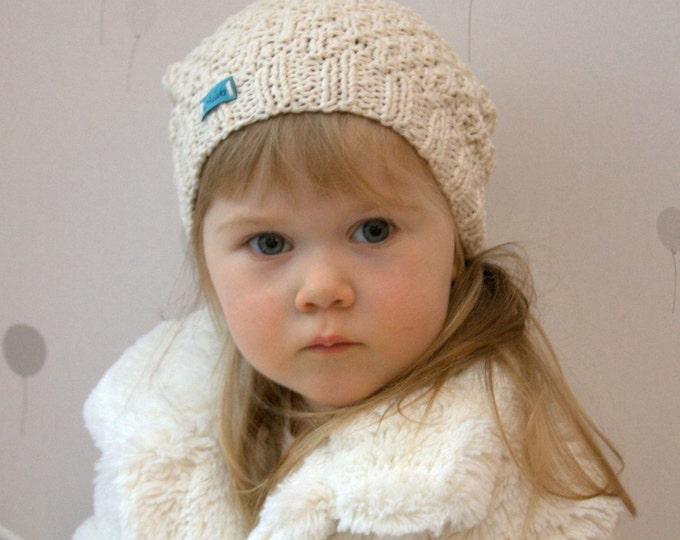 KNITTING PATTERN beanie hat Eti (baby, toddler, child, adult woman sizes)