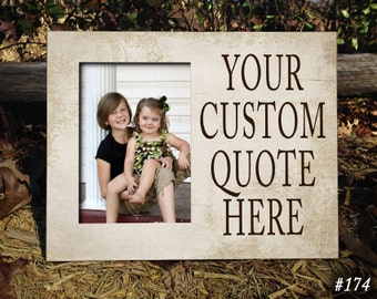"8x10"" Custom Photo Frame, Your Custom Quote Here, Personalized Frame, Custom, Handmade Wood Photo Frame, Personalized Gift, Personalized"