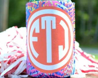 Personalized Beverage Coozie - Lily Inspired  - Can Insulator