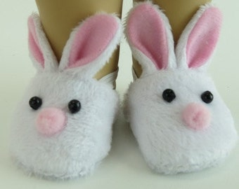 American Girl or Bitty Baby Bunny Slippers