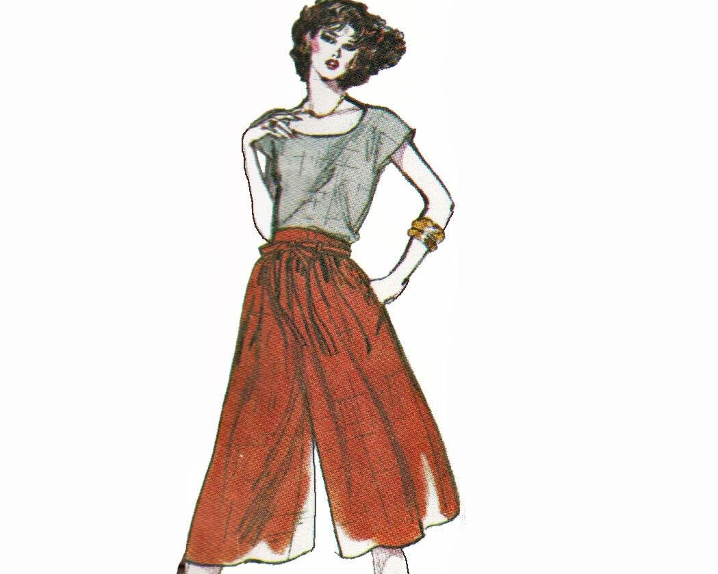 Culottes Pattern Gauchos Pattern Wide Leg Split Skirt Pattern