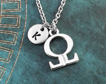 Omega Necklace SMALL Greek Letter Necklace Greek Alphabet Necklace College Jewelry Sorority Necklace Fraternity Jewelry Omega Symbol Gift