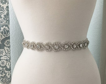 Bridal Sash, Wedding Dress Belt, Rhinestone Bridal Sash, Crystal Sash Belt, Wedding Dress Belt, Bridal Sash Belt 8250
