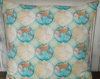 Vintage Global Pillow Cover