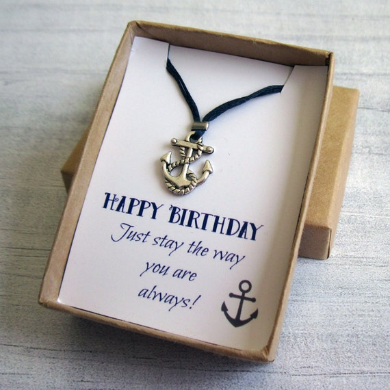 Silver Wedding Anniversary Gifts For Him: Silver Anchor Necklace Gift For Him Men's Anchor