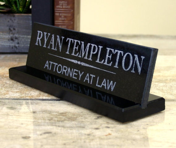 Desk Name Plate Solid Granite Office Desk Sign Customized