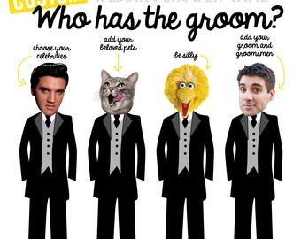 COMPLETELY CUSTOM Who has the groom - Wedding shower game - PRINTABLE