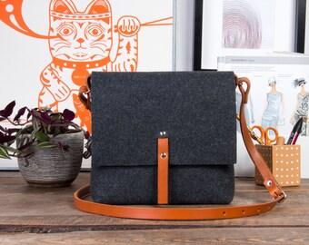 Crossbody Festival Bag, Crossbody Bag, Felt purse, Small leather purse, Summer outfits purse