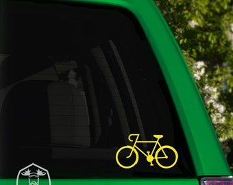 Cyclist Speed Bicycle Car Window Decal