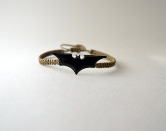 batman bracelet/batman dark knight logo bracelet/geek jewelry