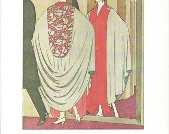 The Mirror Bon Ton Parisienne Fashion From 1912-1925, Fine Art Print, Book Plate, Illustration, Wall Decor, Fashion Lovers BT2