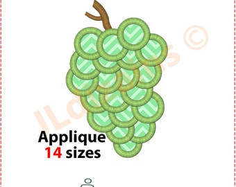 Grapes Applique Design. Grapes embroidery design. Embroidery design grapes Applique design grapes Fruit embroidery Machine embroidery design