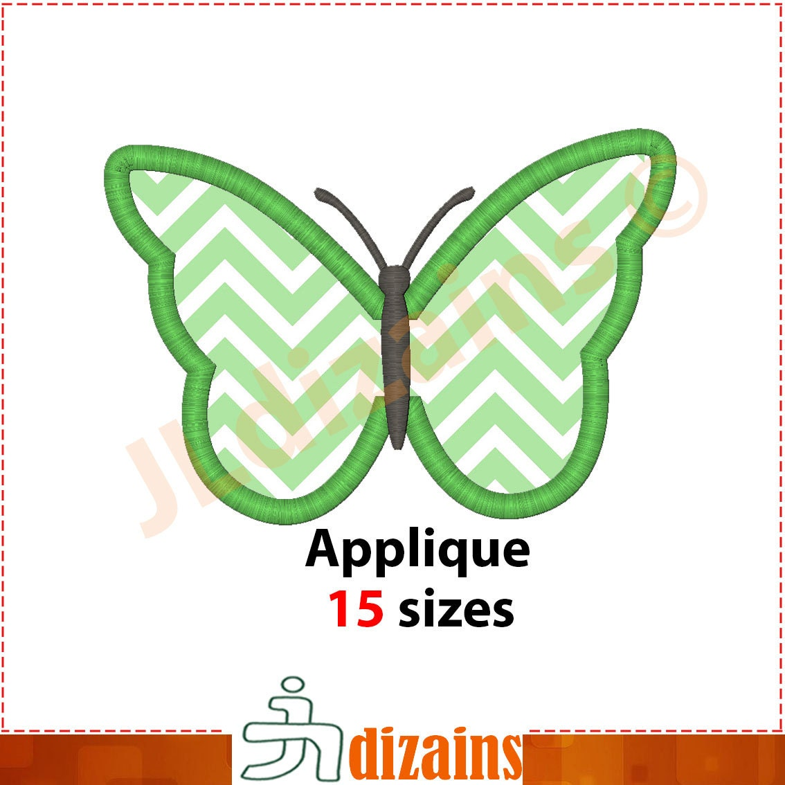 Butterfly Applique Design. Butterlfy Embroidery Design.