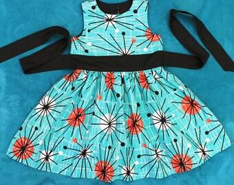 Age 4 dress - Atomic print