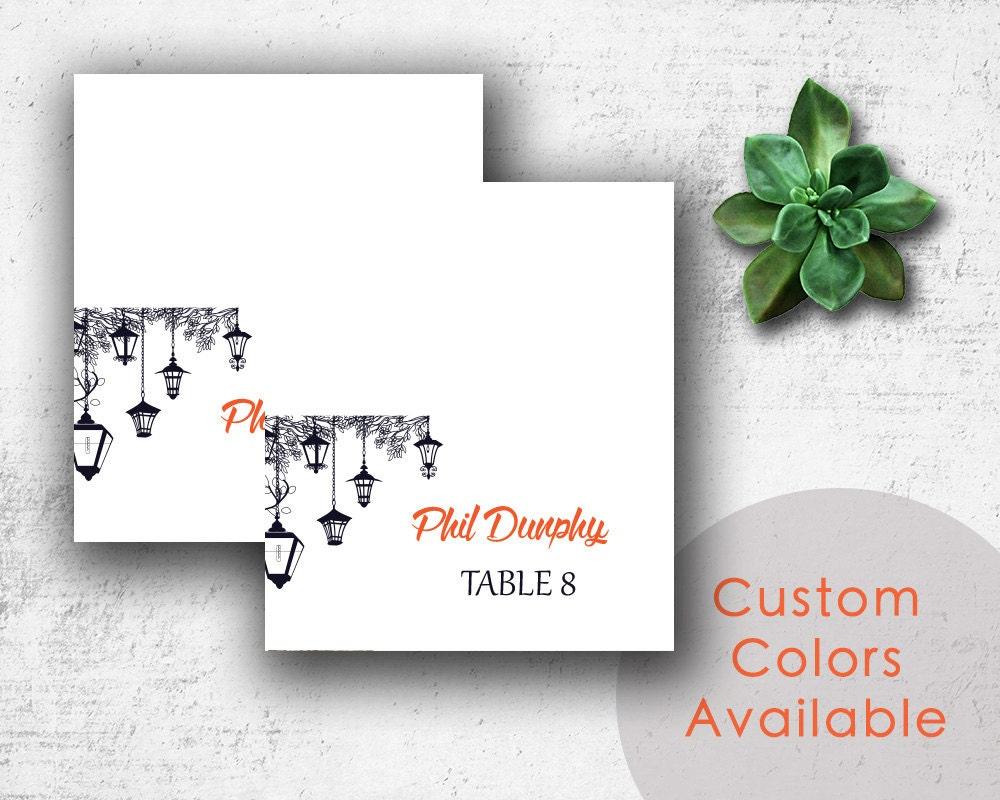 DIY Printable Wedding Name Place Cards PDF Wedding Lanterns