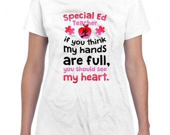 Autism Awareness Shirt Autism Teacher Shirt Teacher Appreciation Gift Autism Shirt Special Education Teacher Gifts For Her Ladies Tee DN-447