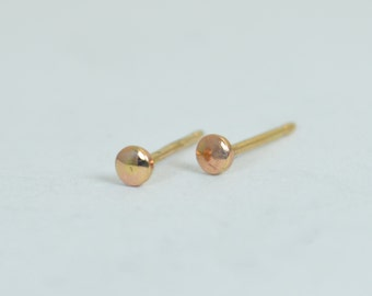 Tiny Rose Gold Earrings, Dot Earrings, Rose Gold Earrings,14k Gold Filled Earrings,Simple Gold Earrings,Rose Stud Earrings,Everyday Earrings