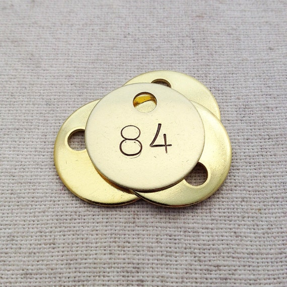 Images of Numbers Stamped On Brass