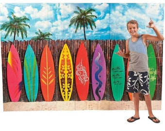 The Surfing party  Backdrop Banner