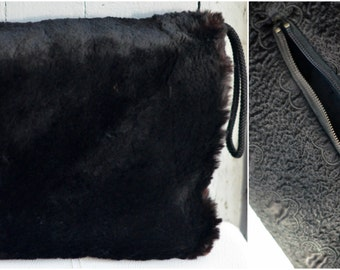 Vintage 1930s Sheared Beaver fur Muff, Edwardian fashion muff, Fur muff, Fur accessories, Vintage Fur