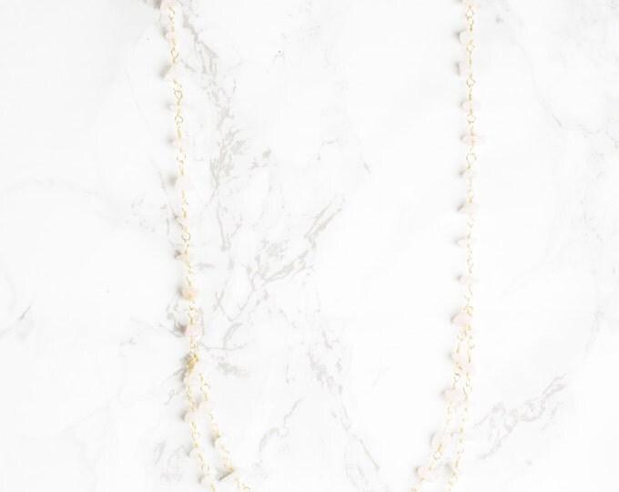 Rosy Eyed Golden Rose Quartz Necklace