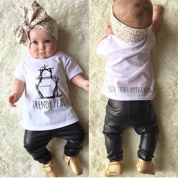 Baby Leggings Matte Black Faux Leather leggings baby boy