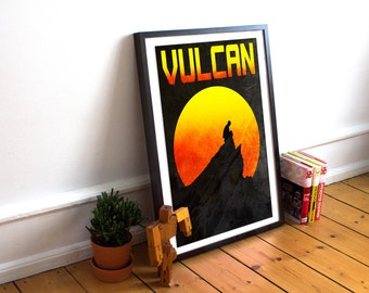 Vulcan Retro Poster - Star Trek - Travel - Spock - (Available In Many Sizes)