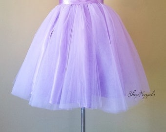 Purple Tulle skirt, bridesmaids skirts, short wedding tutus, custom order, mini micro skirt, layered Tulle, bridal party, satin waist band