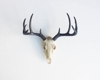 ANY COLOR Faux Deer Skull Wall Hanging // Faux Taxidermy // Western Stag Head // Boho Chic // Animal Skull // Buck Skull // Deer Antlers