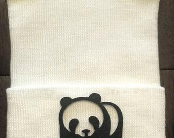 Newborn Hospital Hat - Hospital Hat - Panda Hat - Zoo Hat - Newborn Panda Hat - Black and White Hat - Baby Panda Hat - Baby Animal Hat