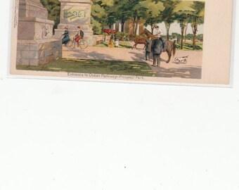 Attn: Brooklyn Denizens&Friends,Scarce c1905 Prospect Park Entrance To Ocean Pkwy,Exquisite Art Postcard,Private Mailing Card