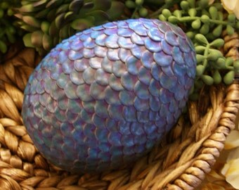 Large Blue and Purple Dragon Egg