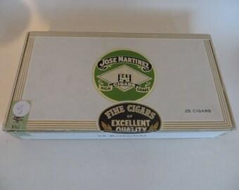 Vintage Cigar Box Jose Martinez