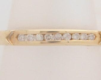 0.25 Carat T.W. Ladies Round Cut Diamond Wedding Band 14K Yellow Gold Ring