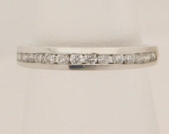 0.55 Carat T.W. Round Cut Diamond Band Platinum Ring