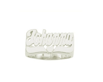 SNS-106 - Sterling Silver  Jr. Heart Tail Ring