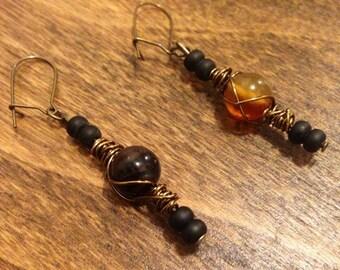 Lantern Wire Wrapped Earrings